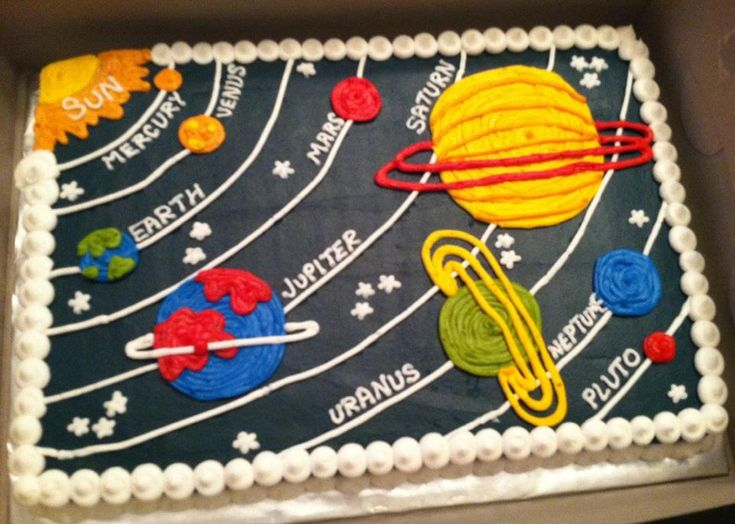 "Sweet Treats by Susan- I wonder if the ""My Very Excellent Mother..."" mnemonic came in handy here?  haha  LOVE this cake (and that Pluto is included)!!  :-D  @Susan Harvey"
