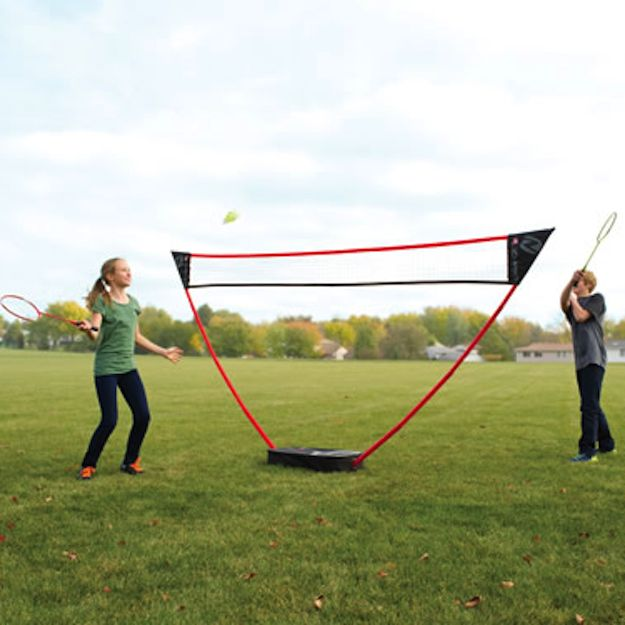 A freestanding badminton net. | 23 Insanely Clever Products You Need In Your Life