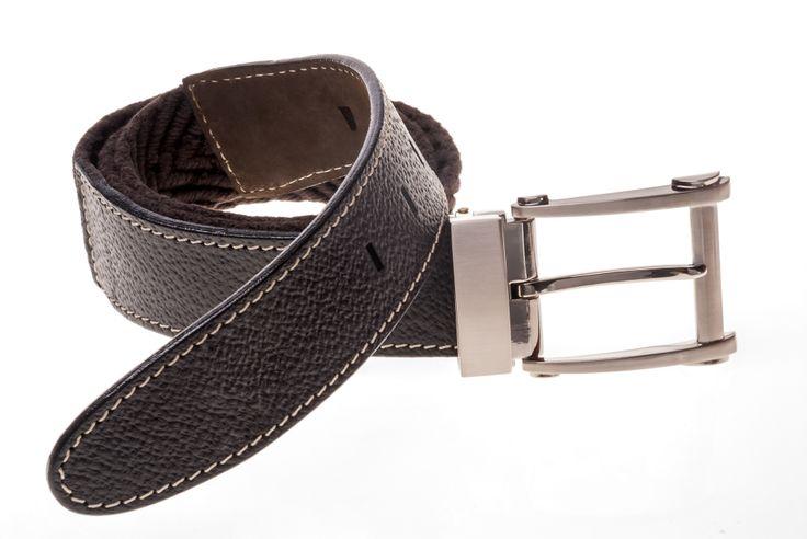 Cinturón para hombre elaborado en cuero. Color marrón