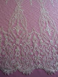 Show more information on Ivory Embroidered Lace - Itzel