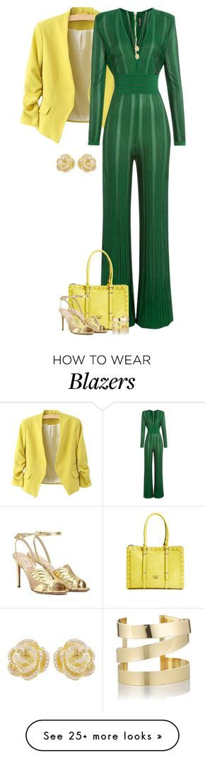 """""""Jumpsuit For Fall 2"""" by majezy on Polyvore featuring Balmain, GUESS, Valentino, Effy Jewelry, Jennifer Zeuner and Étoile Isabel Marant"""