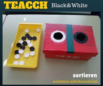 Autismus Arbeitsmaterial: TEACCH: schwarz oder weiß
