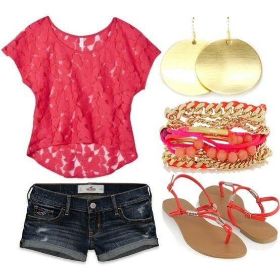 cute: Summer Fashion, Lace Tops, Dreams Closet, Summer Looks, Shirts, Cute Outfits, Cute Summer Outfits, Summer Colors, Summer Clothing
