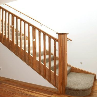 Timber Balustrade in native timber, with love hearts cut out of the balusters