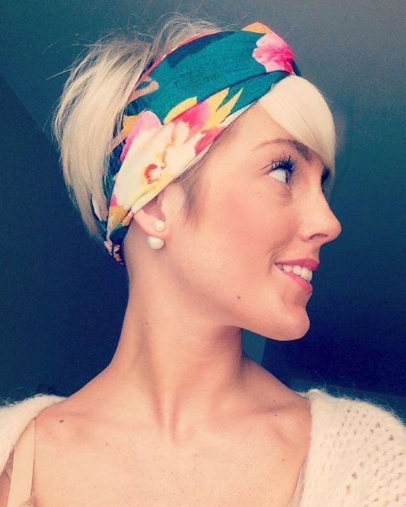 short hairstyles flower headband 2016, #flower headband #short hairstyles