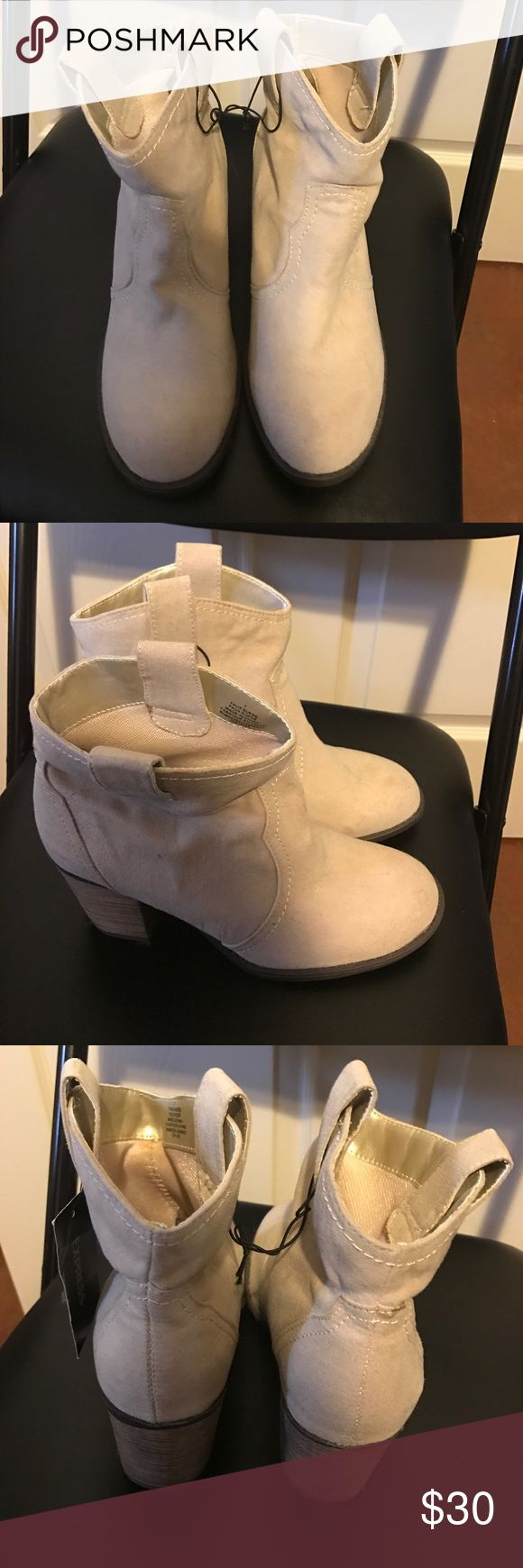 Express beige boots Brand new with tags. Very cute and true to size Express Shoes Ankle Boots & Booties