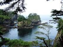Cape Flattery - the northwestern- most point of the contiguous United States,in Clallam County, Washington on the Olympic Peninsula, where the Strait of Juan de Fuca joins the Pacific Ocean.  ||   Wikipedia  Did you know: Cape Flattery is the oldest permanently named feature in Washington state, being described and named by James Cook on March 22, 1778.
