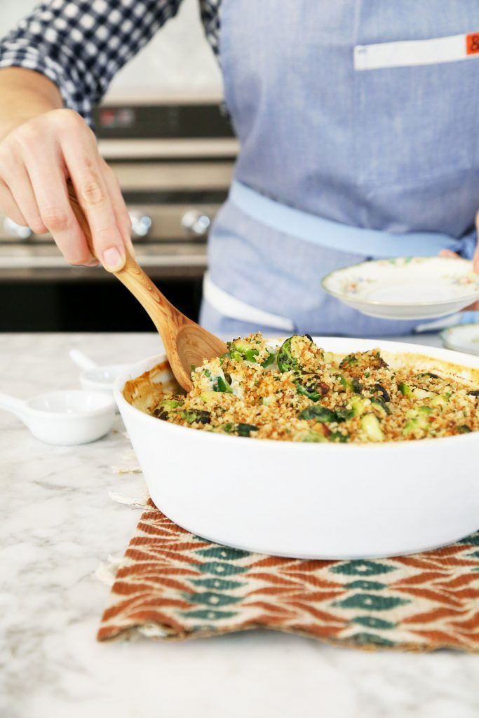 Creamy Smoked Gouda Brussels Sprouts | http://joythebaker.com/2016/11/creamy-smoked-gouda-brussels-sprouts/