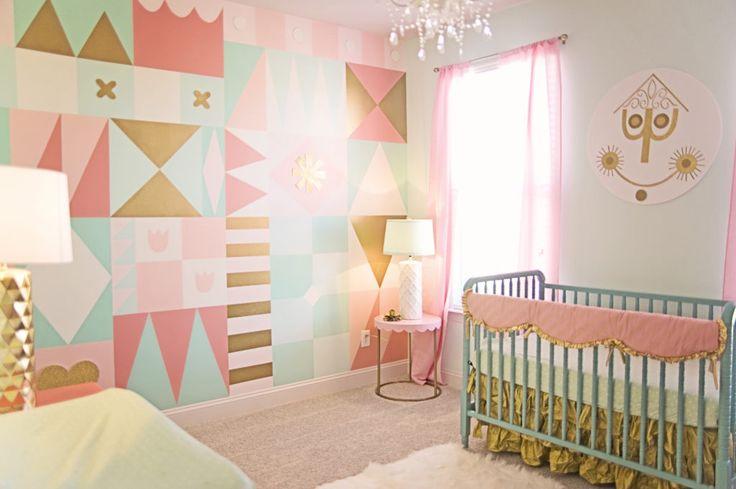 Project Nursery - It's A Small World DIY Nursery