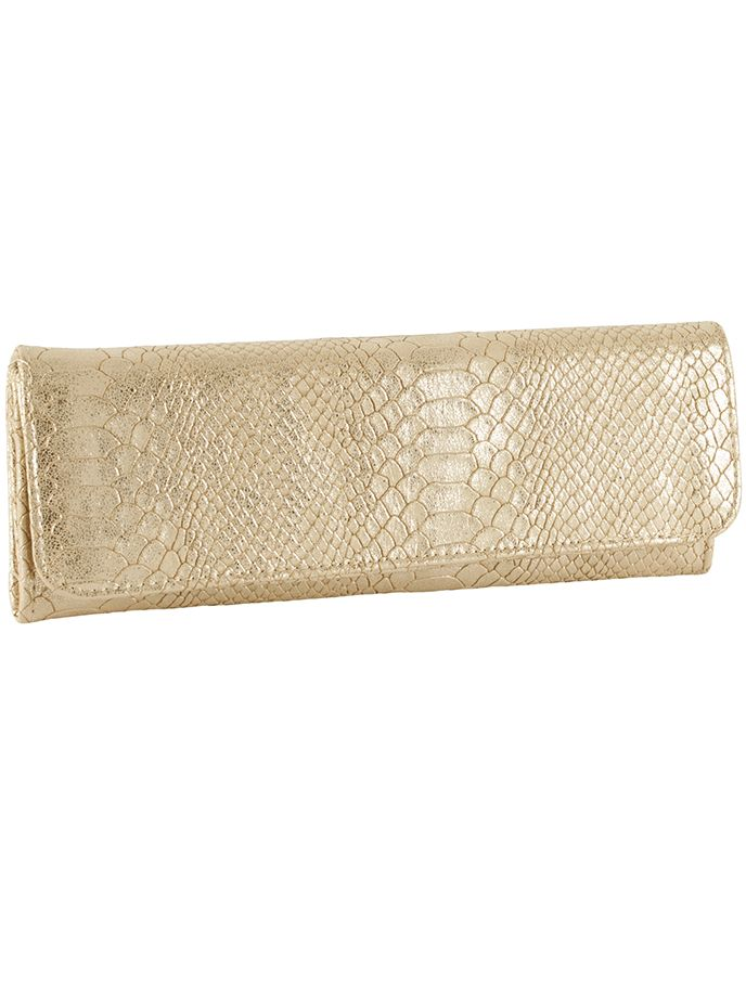 Big Buddha Jackson Clutch Wallet-Gold BBJJACKSONSN-GD | DesignerImports.com