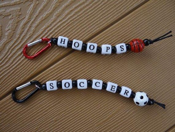 Soccer and Basketball Keychain Craft Kits by minimecrafts on Etsy, $2.00