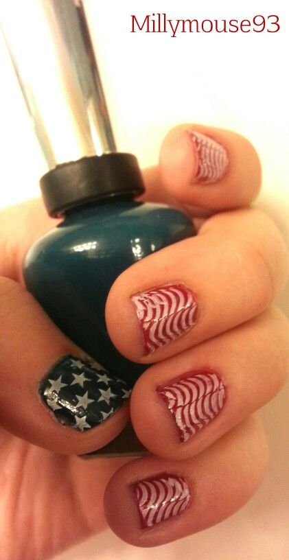 25 best my nails images on pinterest sparkle dark and design fourth of july red white and blue america murica prinsesfo Image collections
