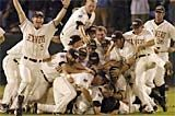 The underdog 2006 Oregon State University baseball team became the first team in College World Series history to lose twice in the series and still win the national title. The squad also became the first entirely Northern-based school to win the series since Ohio State in 1966. The team won the series again in 2007.