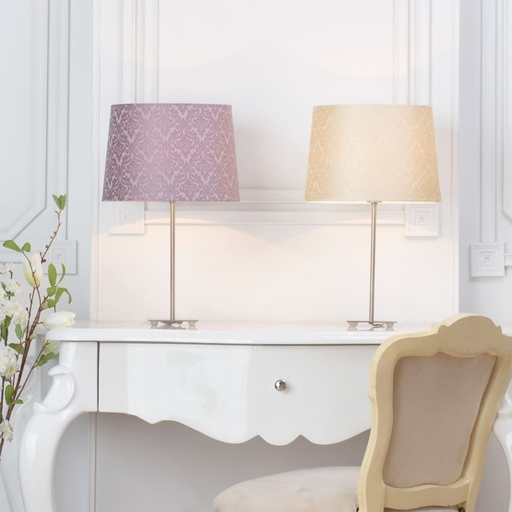 two damask shades dressing table lighting lifestyle