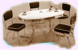 Retro Furniture at Retro Housewife. Chrome Dinette Set