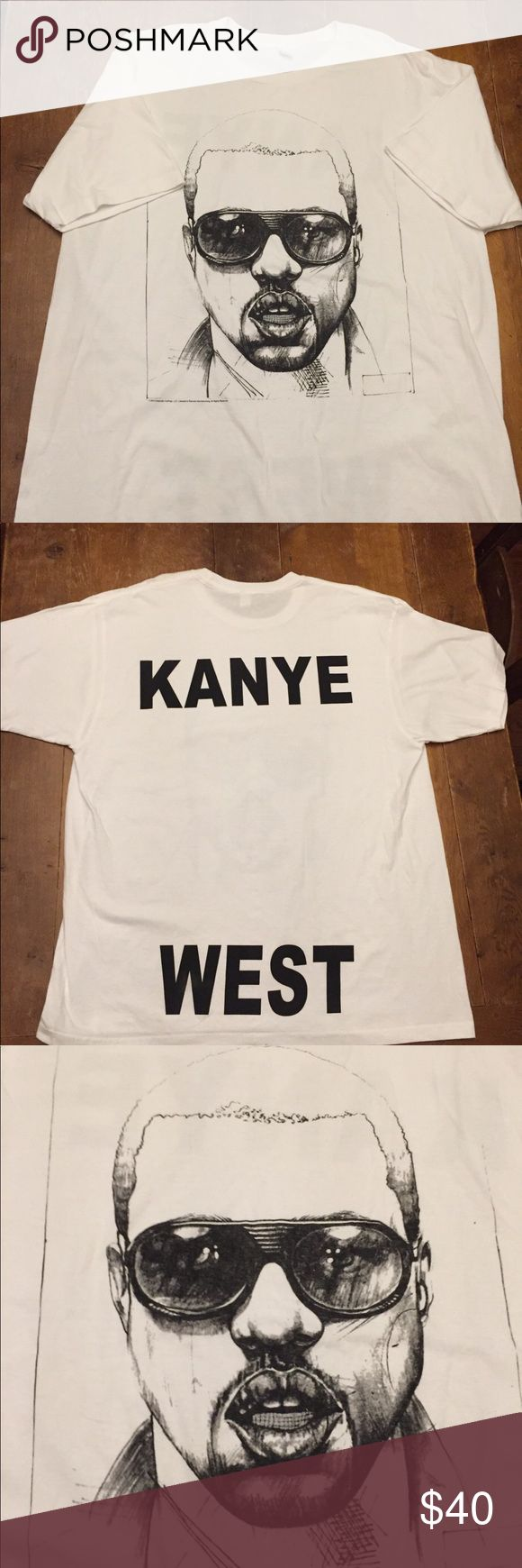 Kanye West concert T Shirt Excellent condition Shirts Tees - Short Sleeve