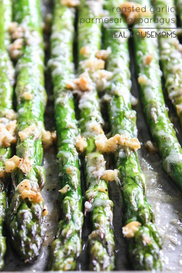 Roasted Garlic Parmesan Asparagus is packed full of flavor and is a great way to get some greens into your diet! It is quick to make and can be eaten as a side dish or a snack.