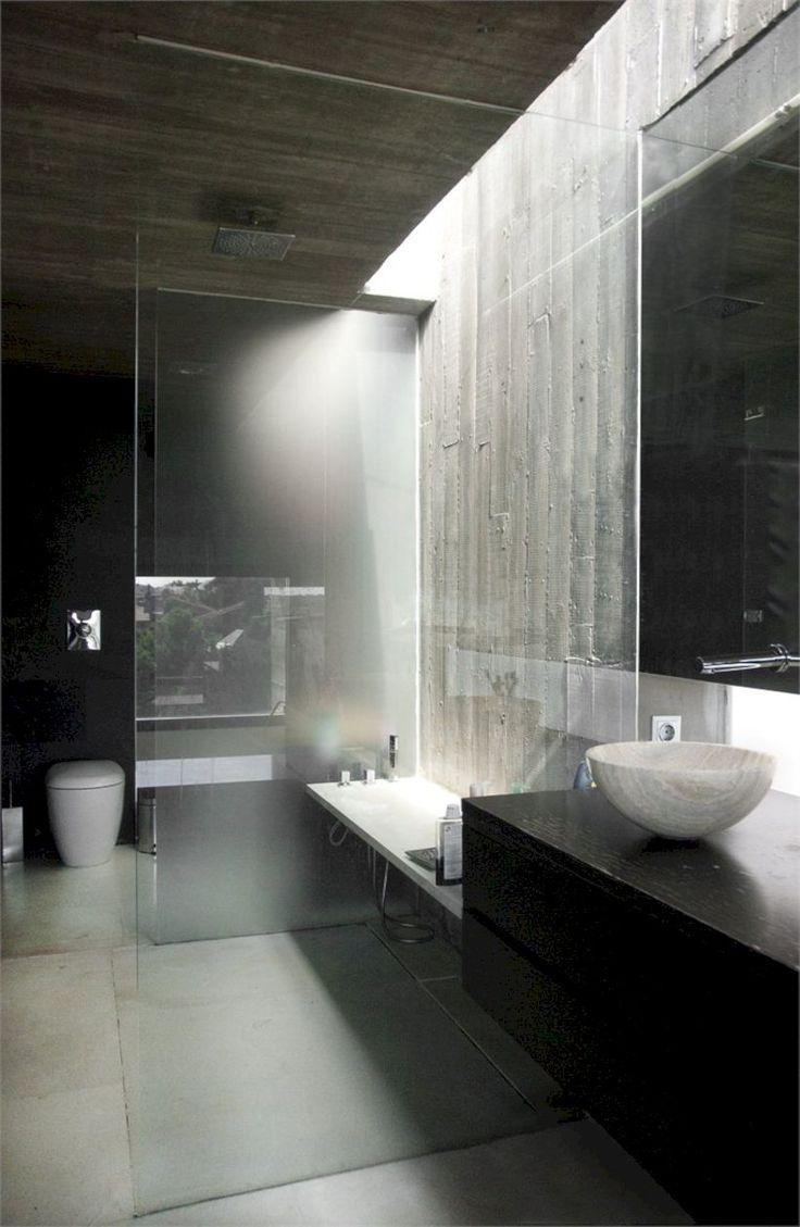 Minimalist Bathroom Design 15 minimalist modern bathroom designs for your home 43 Nice And Minimalist Bathroom With The Glass Wall With A Concrete