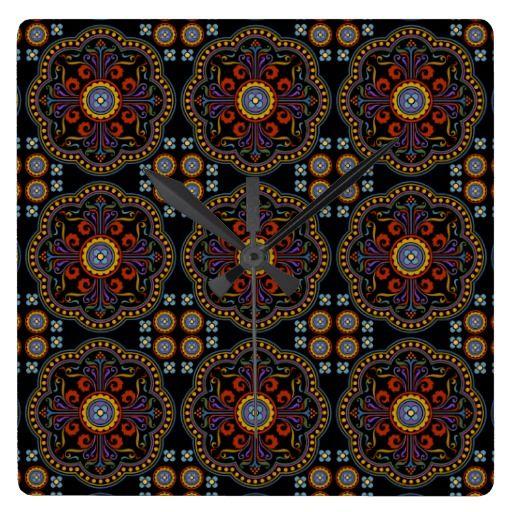 Beautiful Medieval Pattern Wallclocks