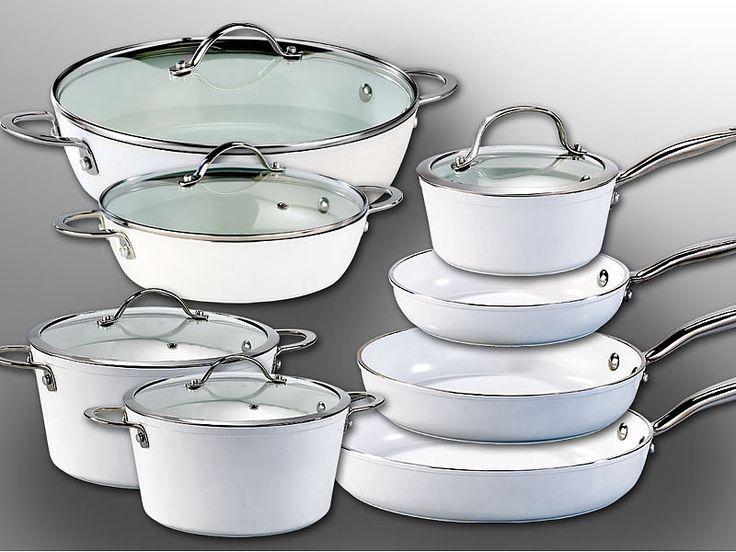 Tornwald-Schmiede 8-teiliges Alu-Kochgeschirr mit Premium-Beschichtung Tornwald-Schmiede Topf- & Pfannen-Set mit Keramik-Beschichtung