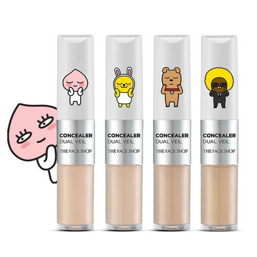 THE FACE SHOP Concealer Dual Veil [KAKAO FRIENDS]|The face shop|Concealer|Online Shopping Sale Koreadepart