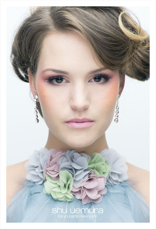 shu uemera campaign featuring our floral bib necklace!  http://www.loveheadmistress.com/-floral-bib-necklaces/620-tilt-a-whirl-bib-necklace-1.html
