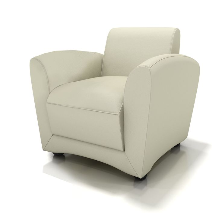 Lounge Series Leather Santa Cruz Mobile Lounge Chair