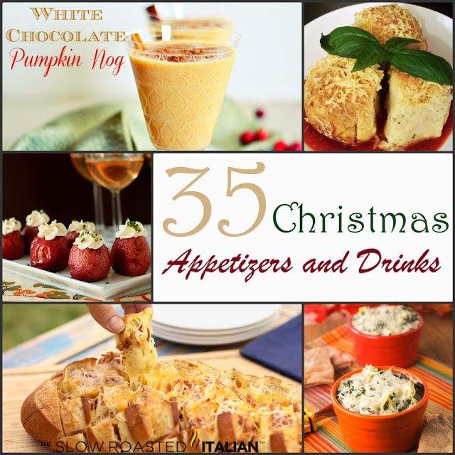 35 Christmas Party Appetizers and Drinks by Mommy's Sweet Confessions