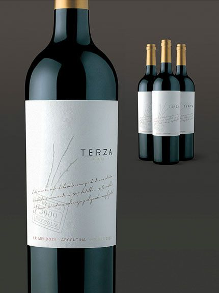 terza tremilla wines label design