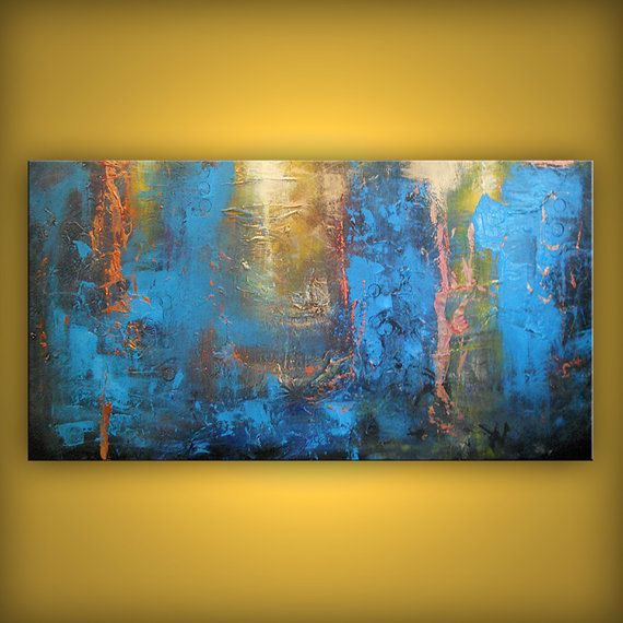 Hey, I found this really awesome Etsy listing at https://www.etsy.com/listing/69911236/metallic-gold-art-blue-abstract-painting