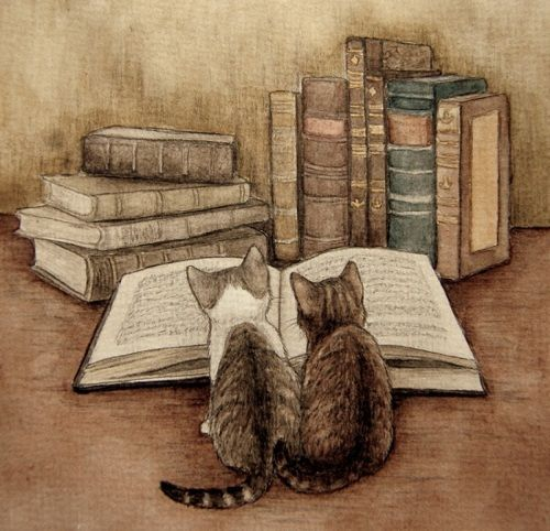 There's just something about kittens & books