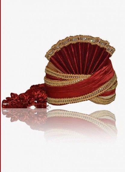 Stunning Red Rawsilk Turban