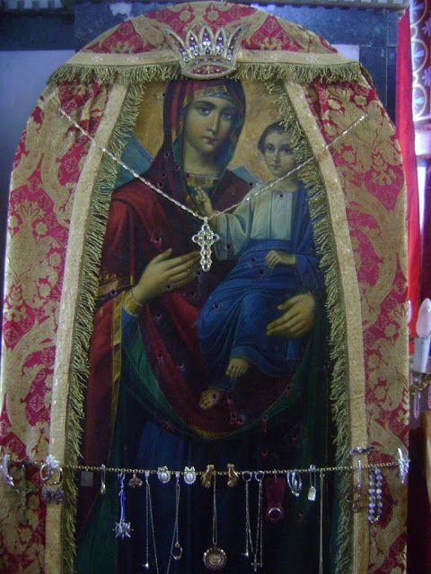 Παναγία Ιεροσολυμίτισσα: Παναγία η Μελικιώτισσα: 55 σφαίρες σε μια εικόνα