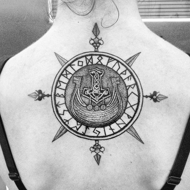 25 Viking Tattoo Designs Ideas: 25+ Best Ideas About Viking Compass Tattoo On Pinterest
