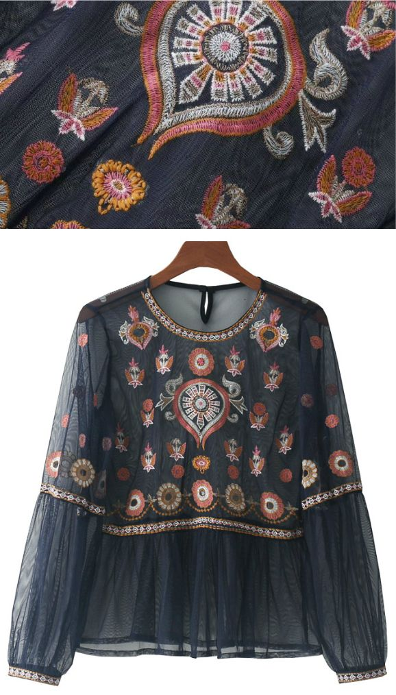 A Bohemian Embroidery Top as featured on PASABOHO. Now Available In Store ! This top exhibit brilliant design with unique embroidery on sleeves. ❤️ outfit ideas :: boho fashion :: boho chic :: boho clothing :: free spirit :: fashion trend :: street style :: fashion style :: bohemian :: modern vintage :: ethnic tribal :: boho bags :: embroidery dress :: skirt :: cardigans :: jacket :: tops