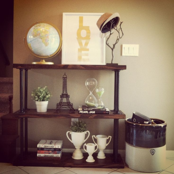 DIY Plumbing Pipe Console Table