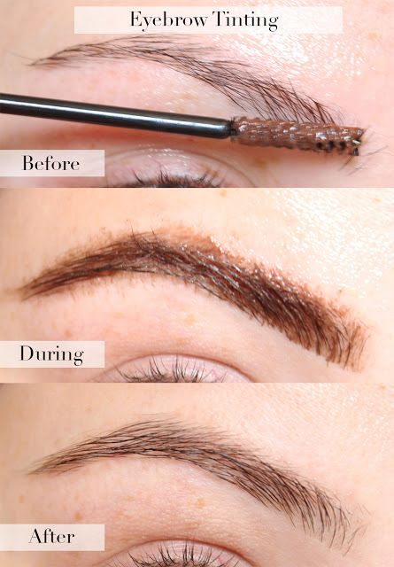 At Home Eyebrow Tinting With Eylure Dybrow In Dark Brown.
