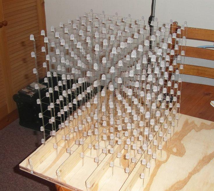 8x8x8 LED cube assembled
