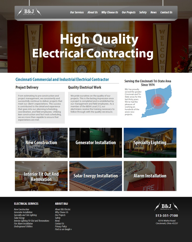 b electrical is a cincinnati web design project for ideas and pixels see the latest - Web Design Project Ideas