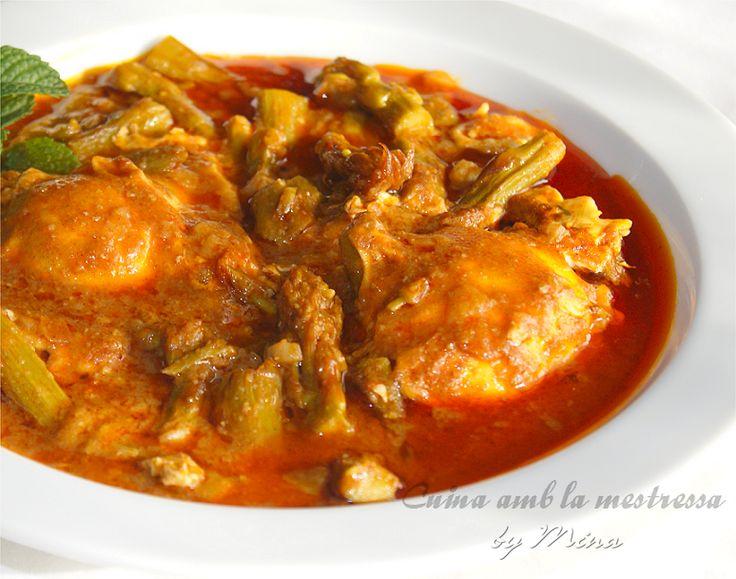 Cuina amb la mestressa: Guiso de espárragos trigueros {receta familiar} http://cuinaamblamestressa.blogspot.com.es/2014/05/guiso-de-esparragos-trigueros-receta.html