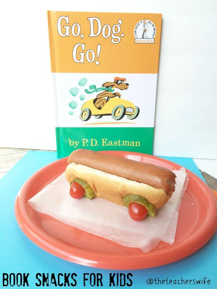 Go, Dog. Go! Children's Book - Snacks for Kids - GREAT preschool meal idea close to Dr. Seuss week and for fun literacy extensions.
