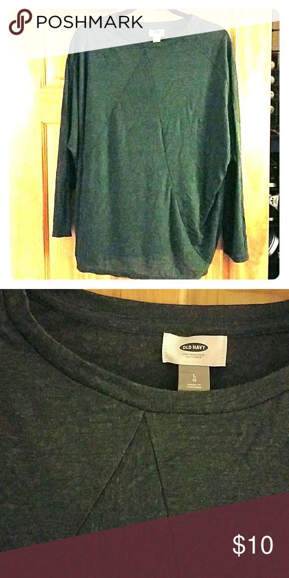 Lightweight Forest Green Batwing Top Lightweight Forest Green Batwing Top. Size Large. Loose. Old Navy Tops Tees - Long Sleeve