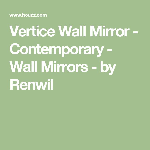 Vertice Wall Mirror - Contemporary - Wall Mirrors - by Renwil