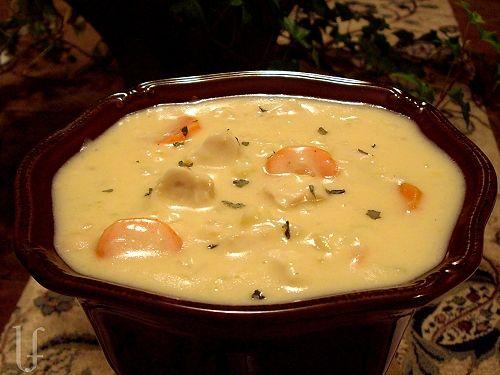 Chicken Cauliflower  Soup  eatingwelllivingt...