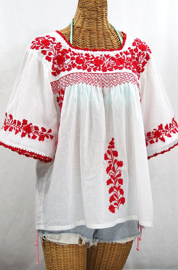 93b1fd89d81eb5 Embroidered Peasant Blouse