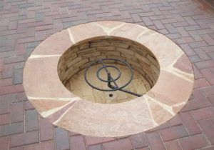 In Ground Gas Fire Pit Gas In Ground Fire Pit With Pavers Floor