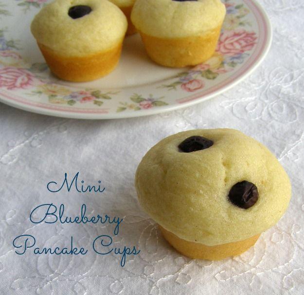 Mini Blueberry Pancake Cups