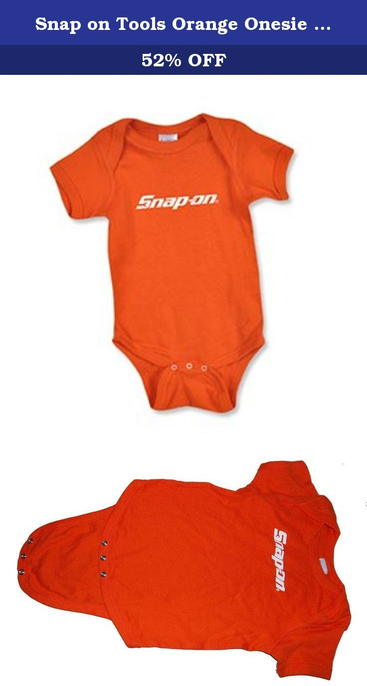 Snap On Tools Orange Onesie 18 Months Orange Infant Lap