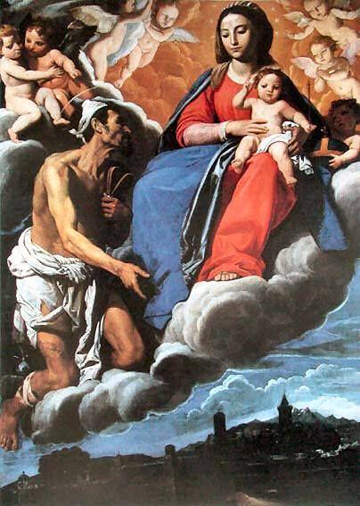 Domenico Fiasella, San Lazzaro chiede alla Madonna la protezione per la città di Sarzana, opera del 1616 conservata nella chiesa di San Lazzaro a Sarzana (prov. La Spezia)