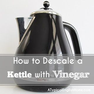 How to descale a kettle with white vinegar.